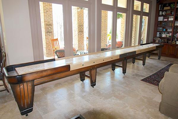 Customers Love Their Shuffleboard Table. Rock Ola Shuffleboard Table