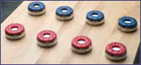 Tournament 12 foot Chestnut Shuffleboard Table Weights