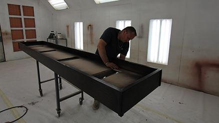 Lovely Shuffleboard Table Handcrafted