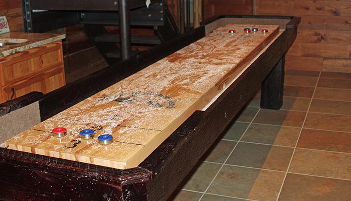 Shuffleboard Table   Dakota Side View Shuffleboard Table   Dakota