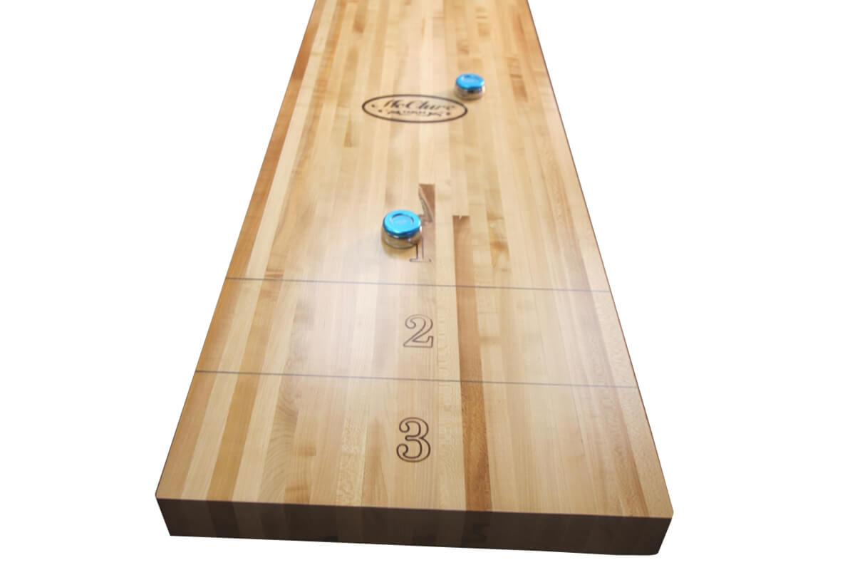 22 Foot Shuffleboard Butcher Block | McClure Tables | 22 Foot Shuffleboard  Play Field