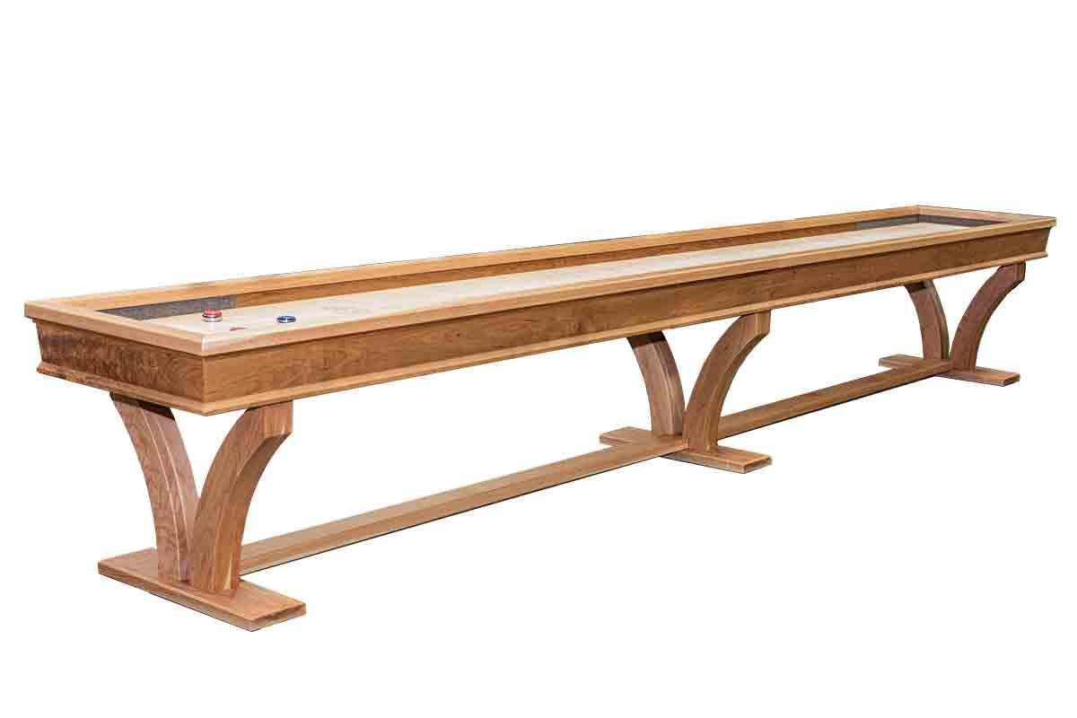 18 Foot Veneto Cherry Shuffleboard Table