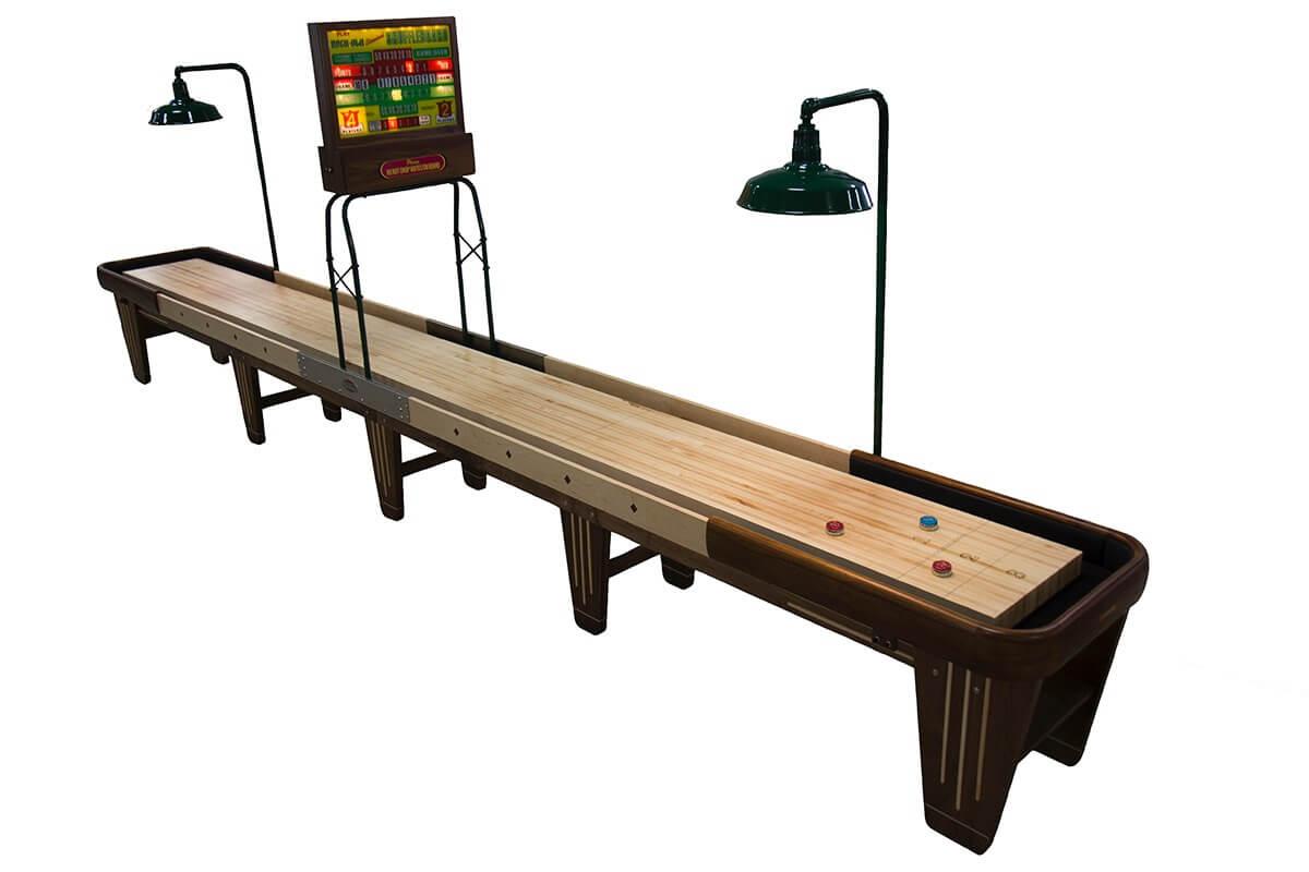 22 Foot Rock Ola Walnut Shuffleboard Table
