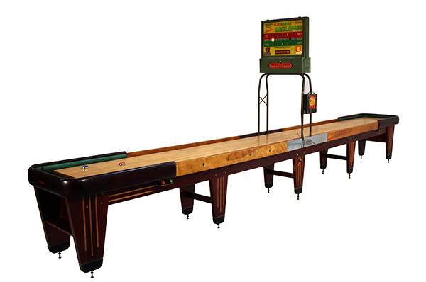 The Antique Rock Ola Shuffleboard Table