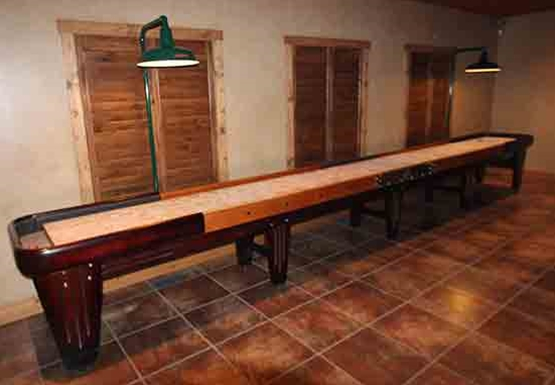 McClure Factory Hand Crafted Shuffleboard Tables sold Factory direct to the public