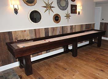 Ponderosa Oak Shuffleboard Tables
