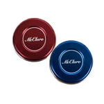 Pro Weights Stainless Steel Pucks with Aluminum Caps - Red/Blue