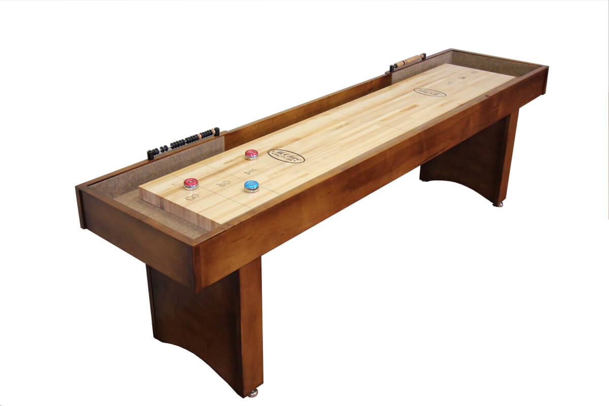 9 foot competitor ii shuffleboard table mcclure tables for 12 foot shuffle board table
