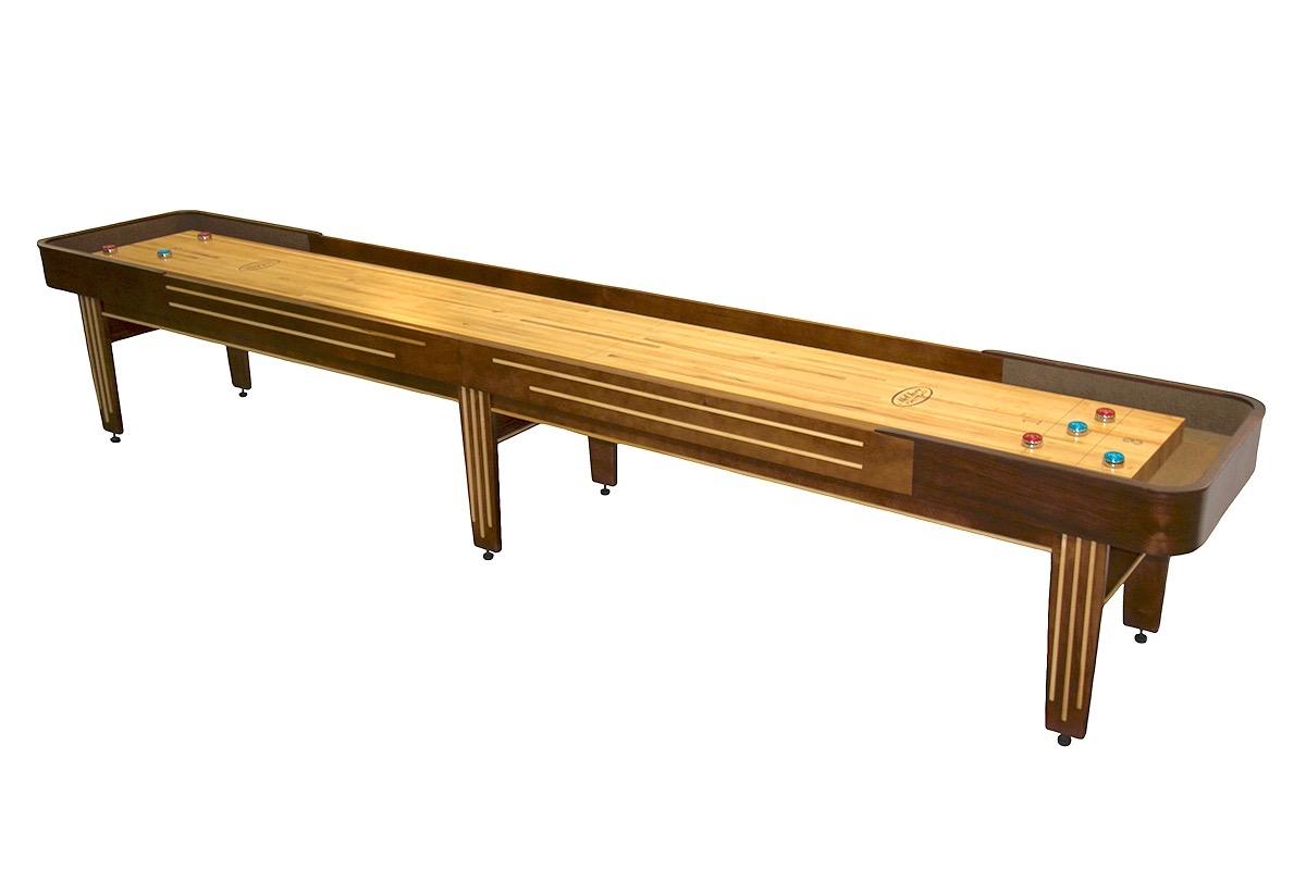 14 foot tournament ii deluxe shuffleboard table mcclure for 12 foot shuffleboard table dimensions