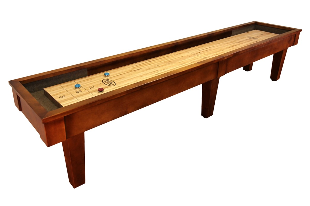 12 foot sloan maple shuffleboard table mcclure tables for 12 foot shuffle board table