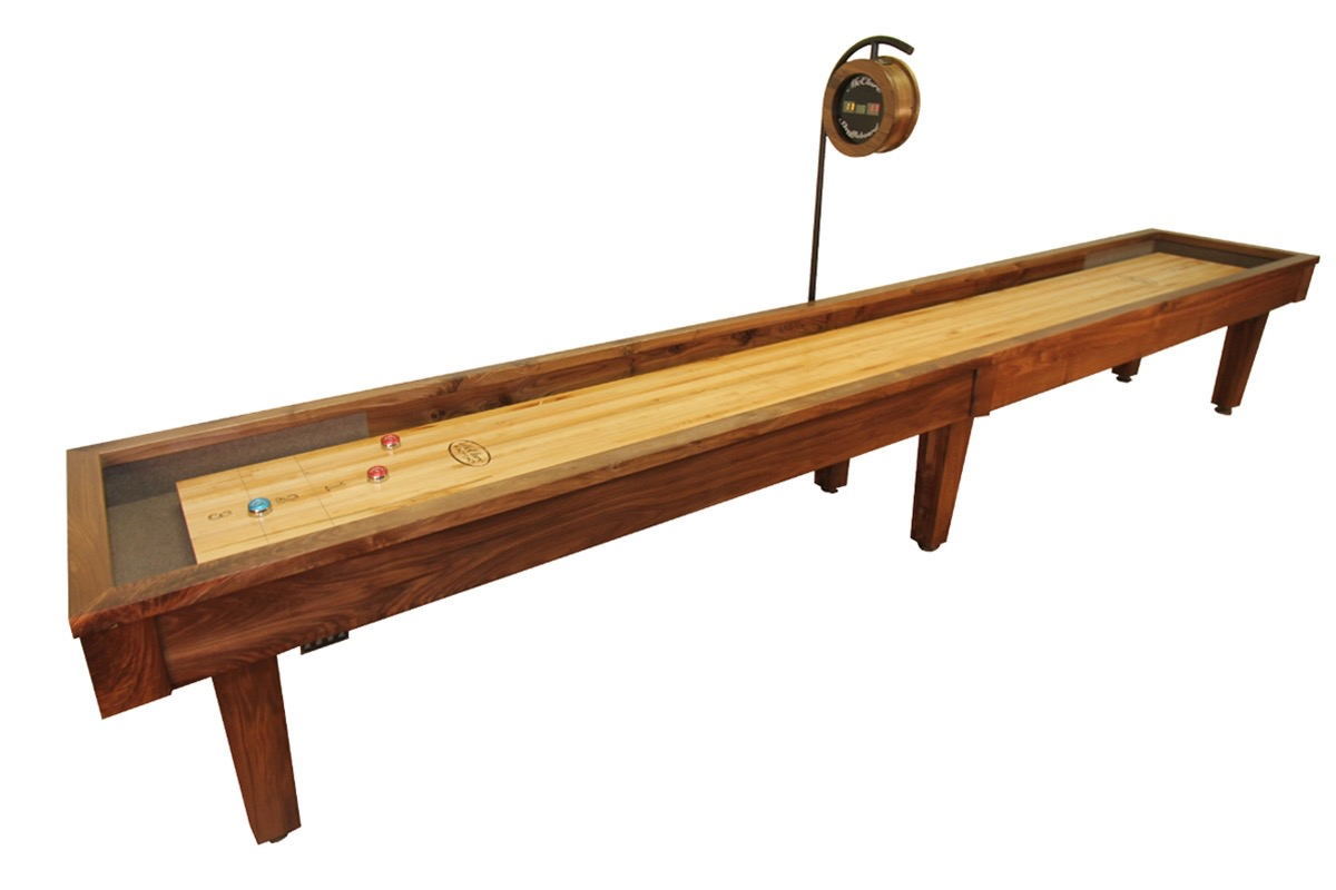 12 foot sloan walnut shuffleboard table mcclure tables for 12 foot table