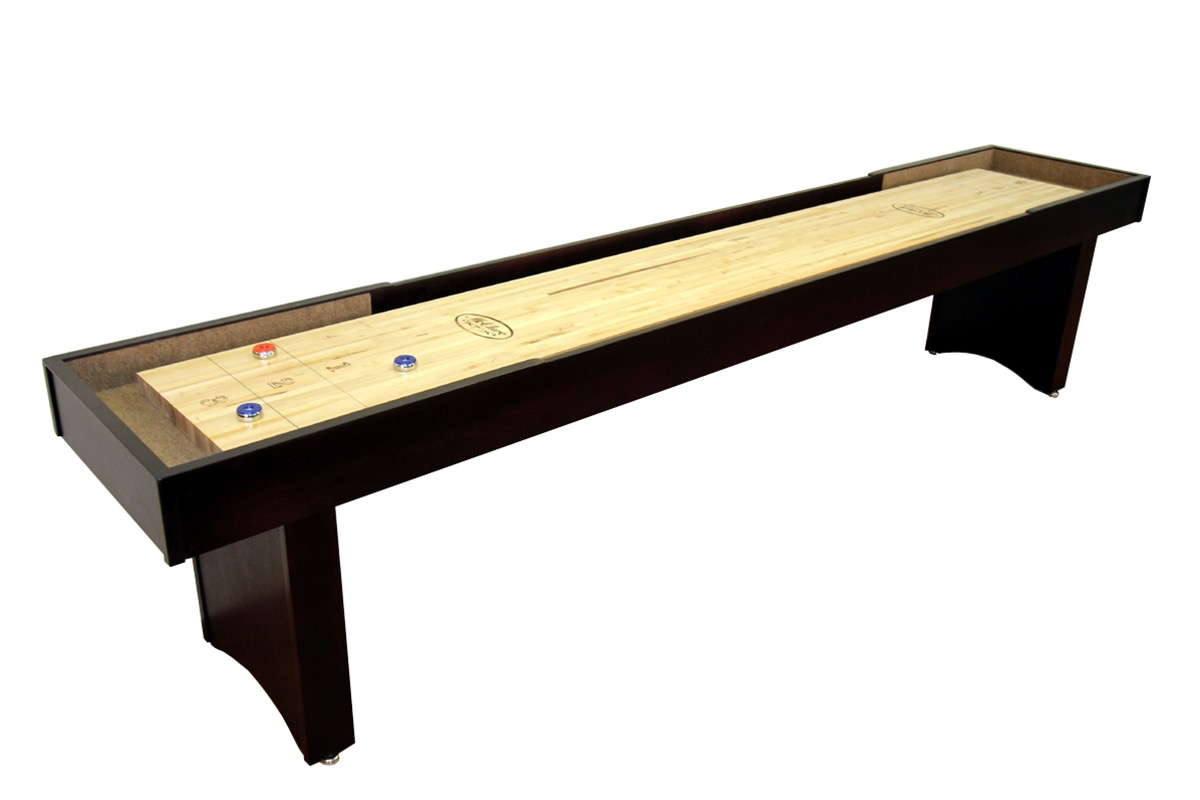12 foot competitor ii shuffleboard table mcclure tables for 12 foot shuffle board table