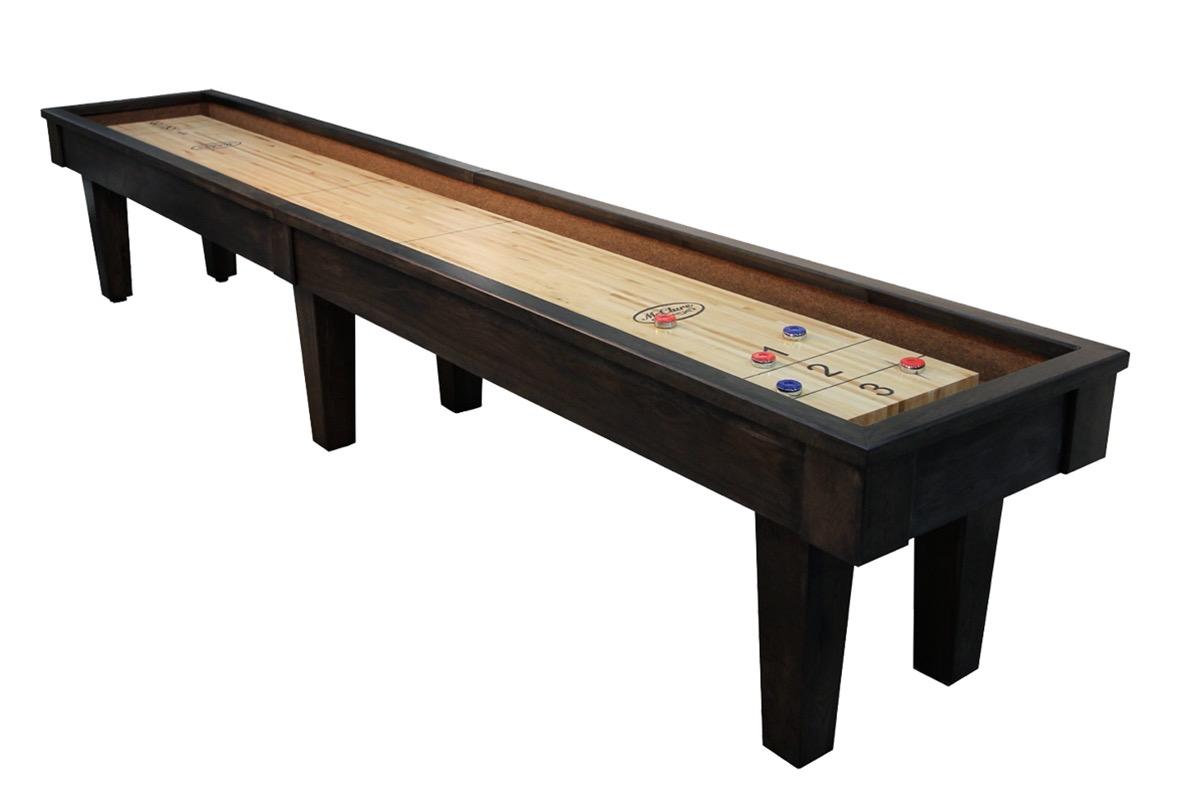 14 foot sloan hickory shuffleboard table mcclure tables for 12 foot shuffleboard table dimensions
