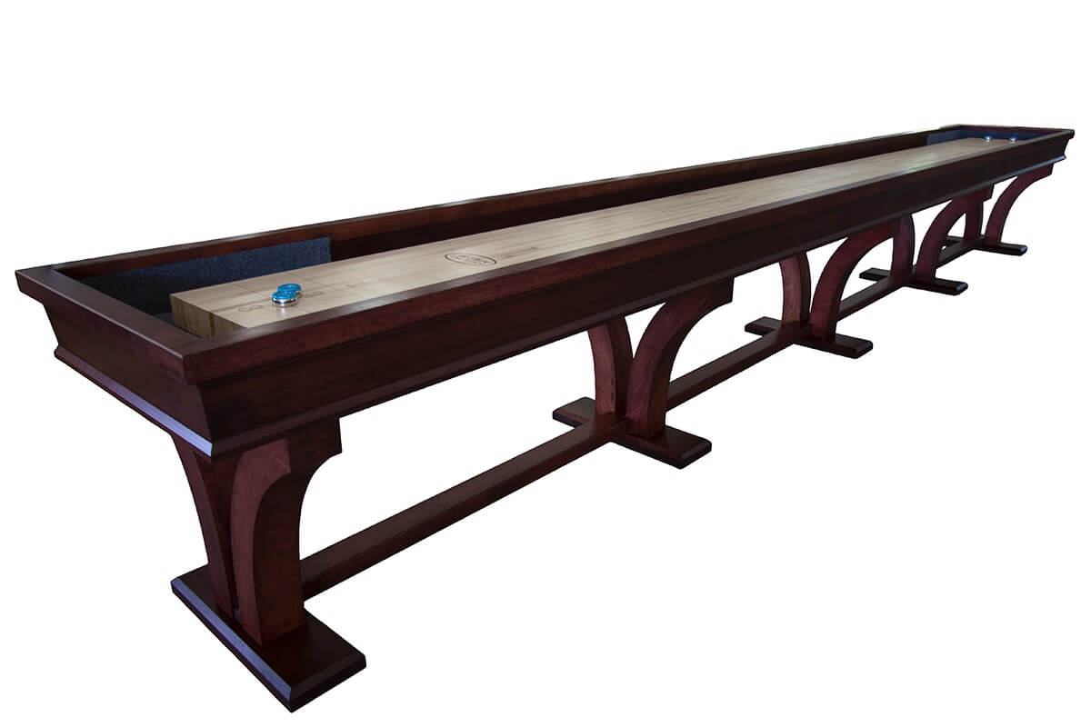 20 Foot Veneto Cherry Shuffleboard Table