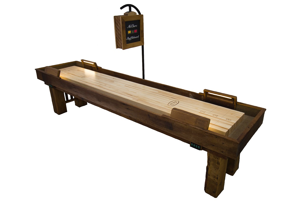 12 foot dakota shuffleboard table mcclure tables for 12 foot shuffle board table