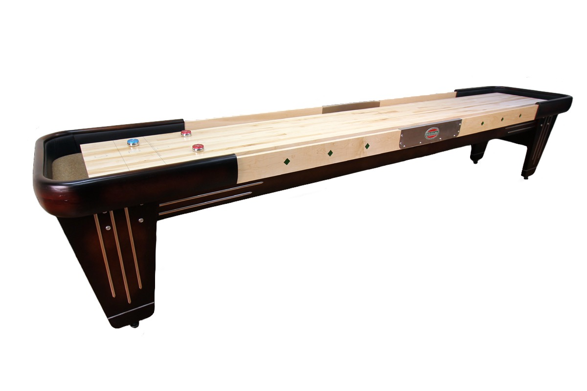 12 foot Rock-Ola shuffleboard table