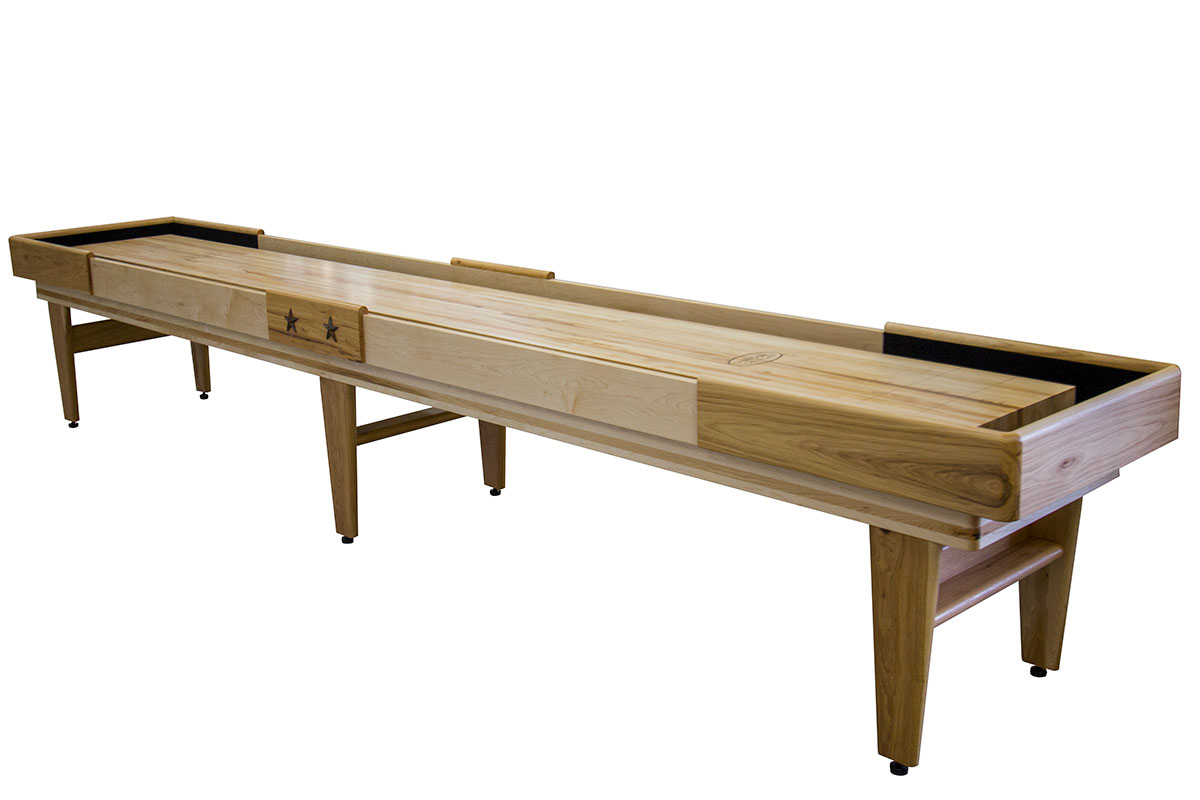 16 Foot Texan Hickory Shuffleboard Table