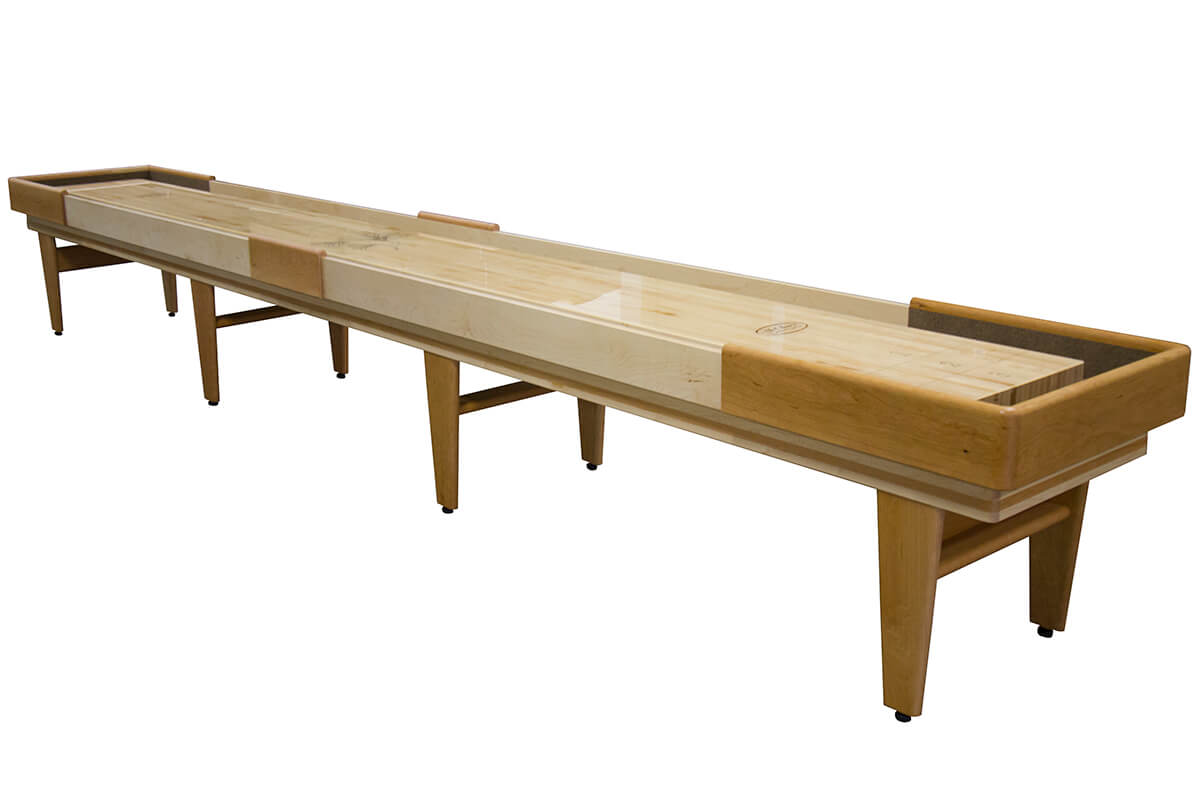 12 foot texan cherry shuffleboard table mcclure tables for 12 foot shuffle board table