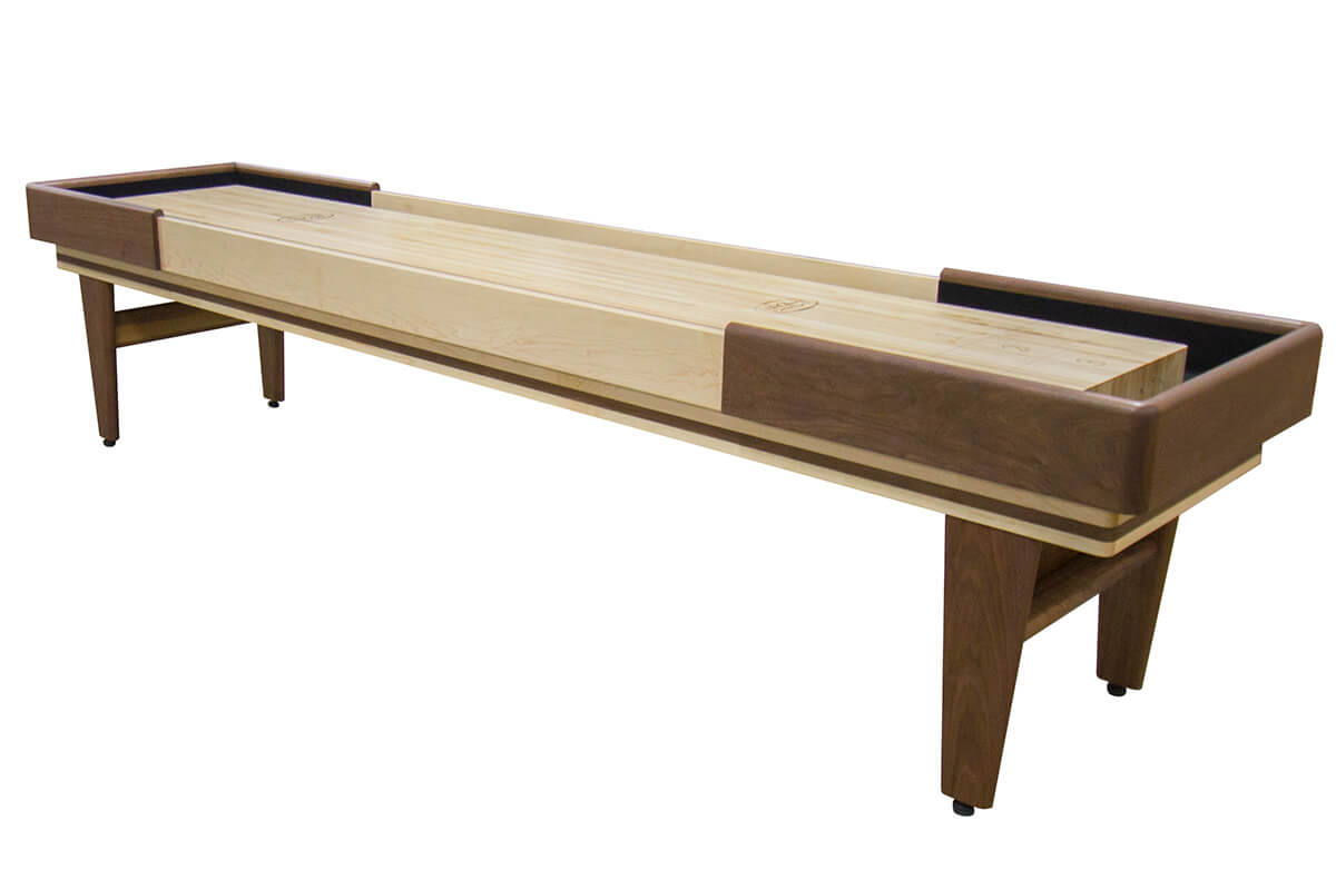 12 foot texan walnut shuffleboard table mcclure tables for 12 foot shuffle board table