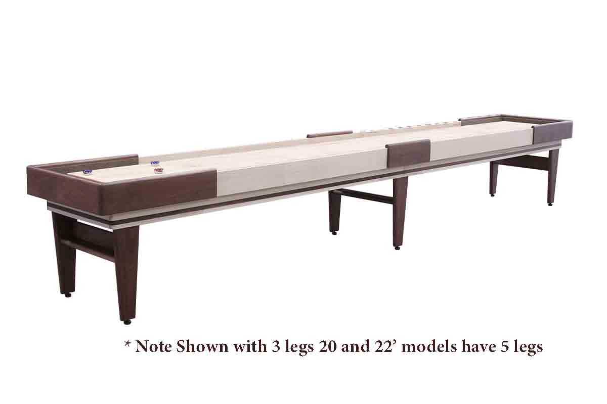 20 Foot Texan Walnut Shuffleboard Table