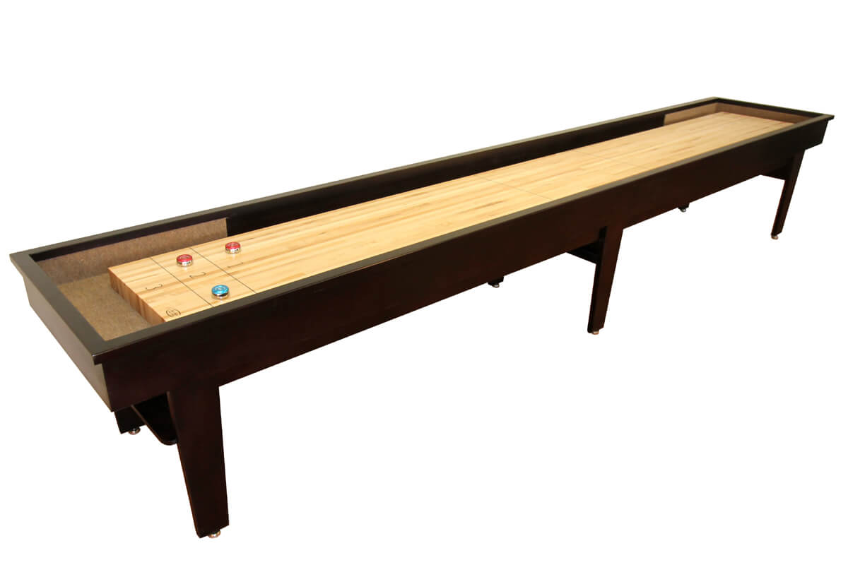 14 Foot Patriot Shuffleboard Table Mocha FInish