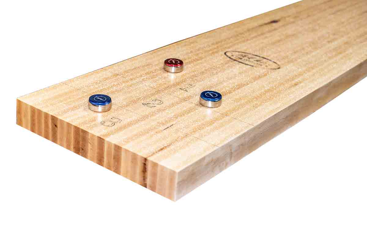9 Foot shuffleboard Play-Field Butcher block