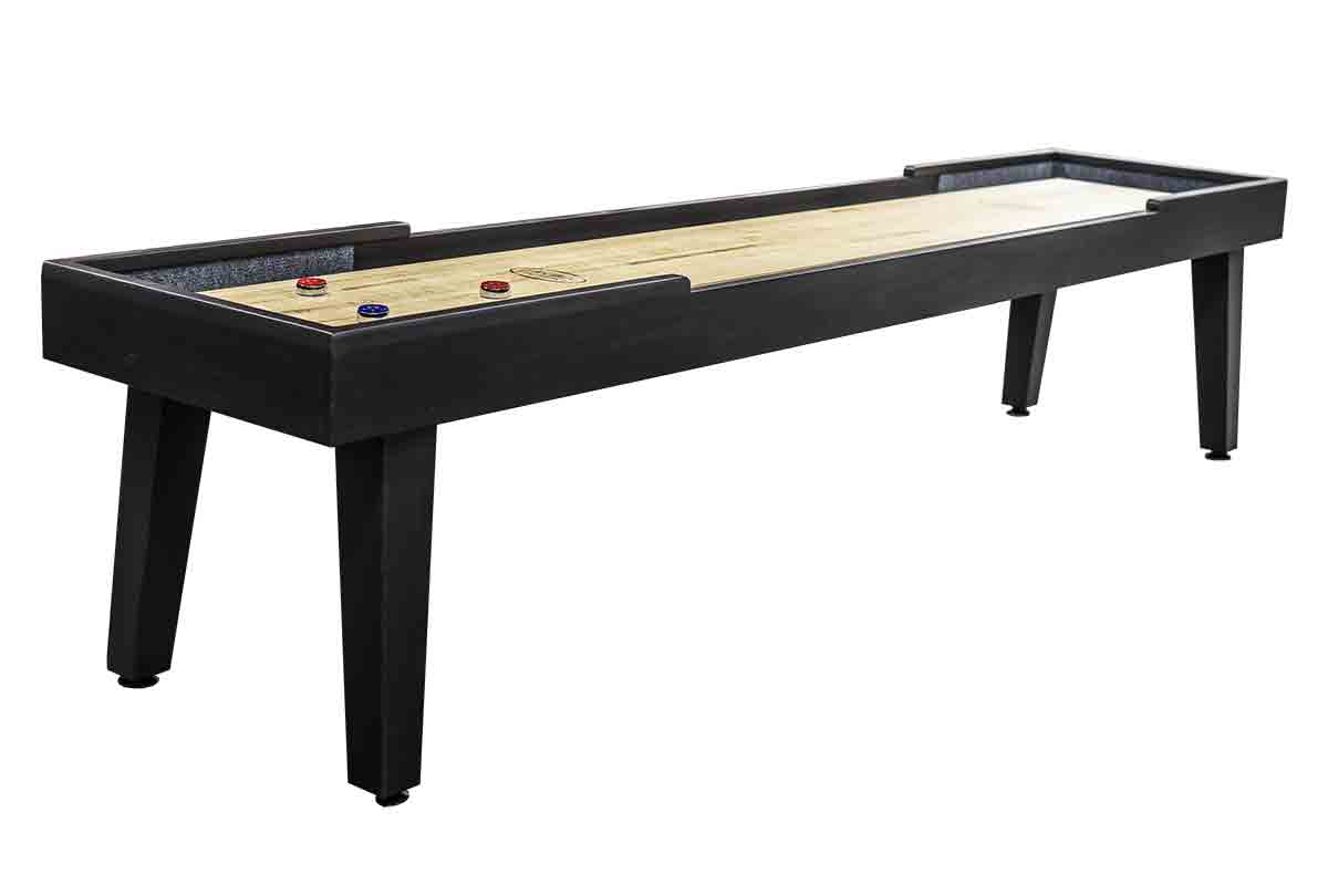 9 foot Ludington Tulipwood shuffleboard table