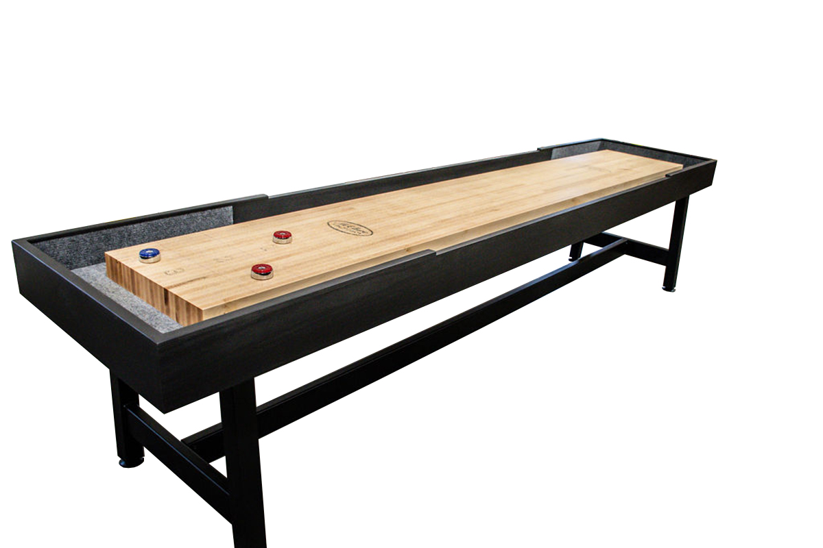9 foot Contempo Tulipwood shuffleboard table