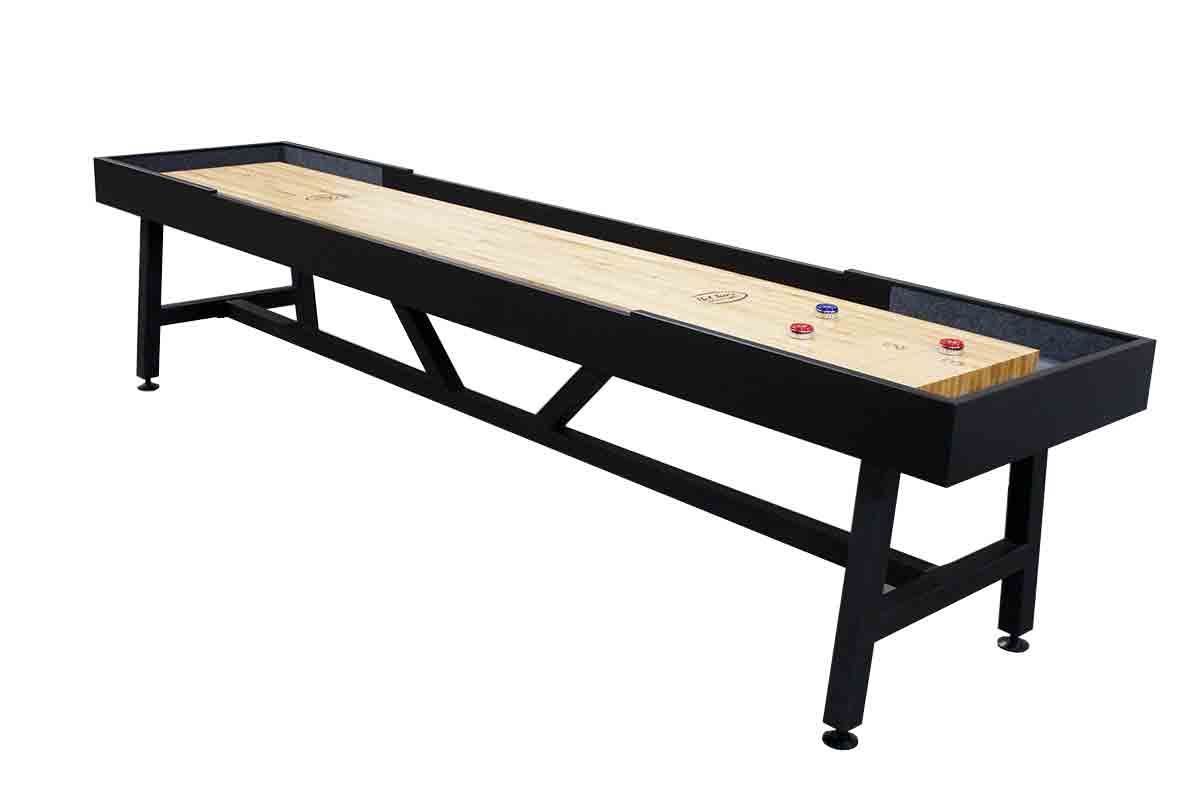 12 foot V base Metal Legs Contempo shuffleboard table
