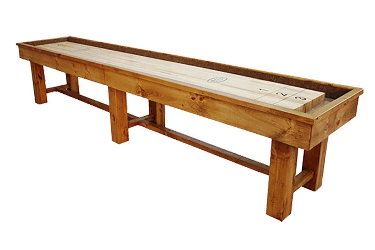 16 Foot Ponderosa Pine Shuffleboard Table