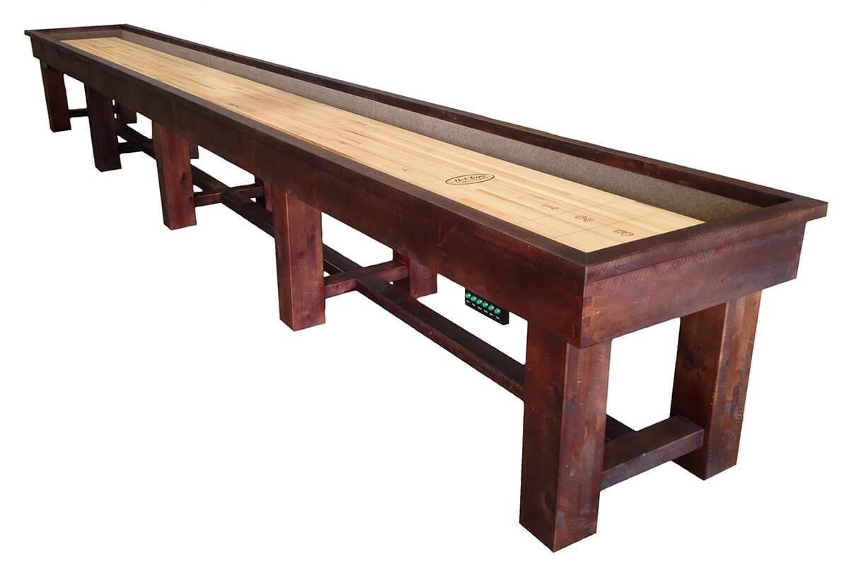 22 foot ponderosa pine table - Shuffle Board