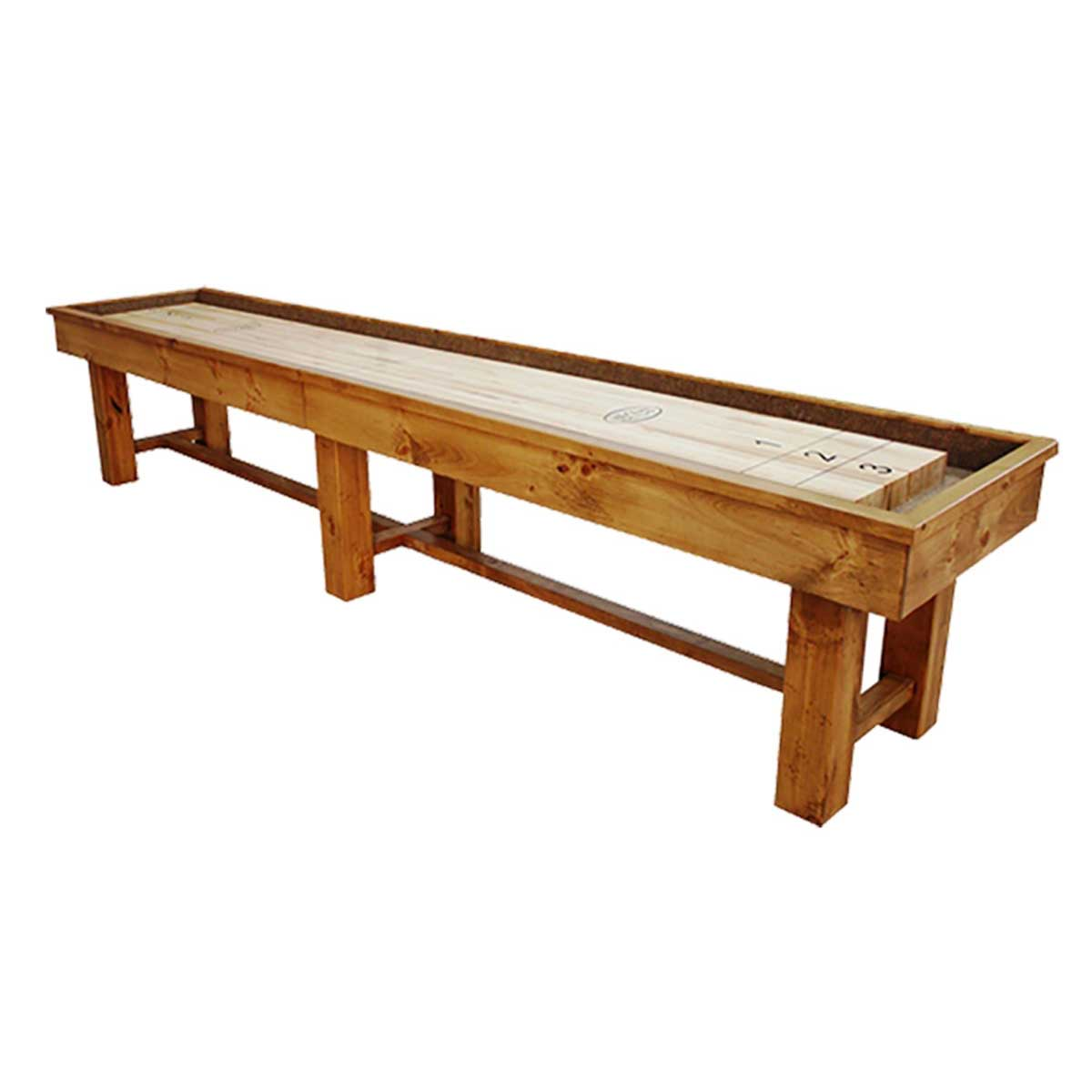 18 Foot Ponderosa Pine Shuffleboard Table