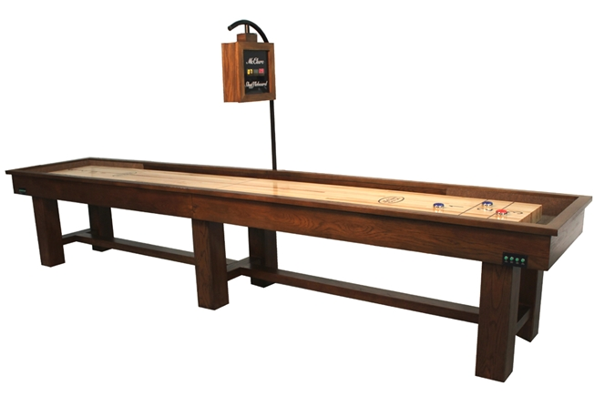 Ponderosa Oak 12 foot Shuffleboard Table