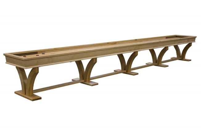 22 Foot Veneto Maple Shuffleboard Table