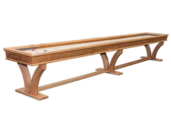 18 Foot Veneto Cherry Shuffleboard Table