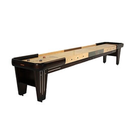 12 Foot Rock-Ola Walnut Shuffleboard Table