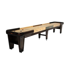 16 Foot Rock-Ola Walnut Shuffleboard Table