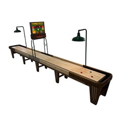 20 Foot Rock-Ola Walnut Shuffleboard Table