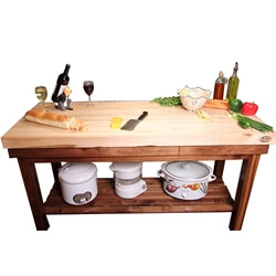 Maple Kitchen Butcher Block Island Cart