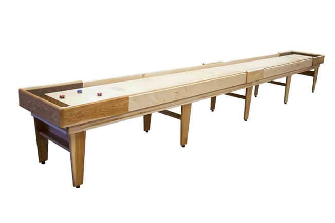 Delightful 22 Foot Texan Hickory Shuffleboard Table