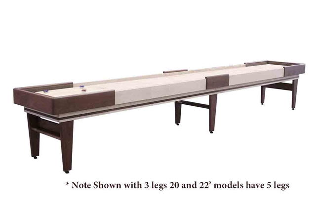22 Foot Texan Walnut Shuffleboard Table