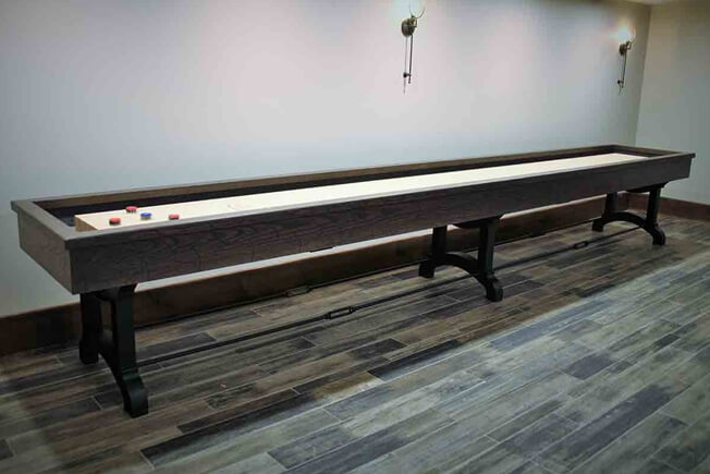 Metal Forged Base Shuffleboard Table