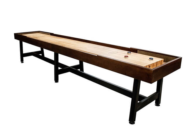 14 foot Contempo Tulipwood shuffleboard table