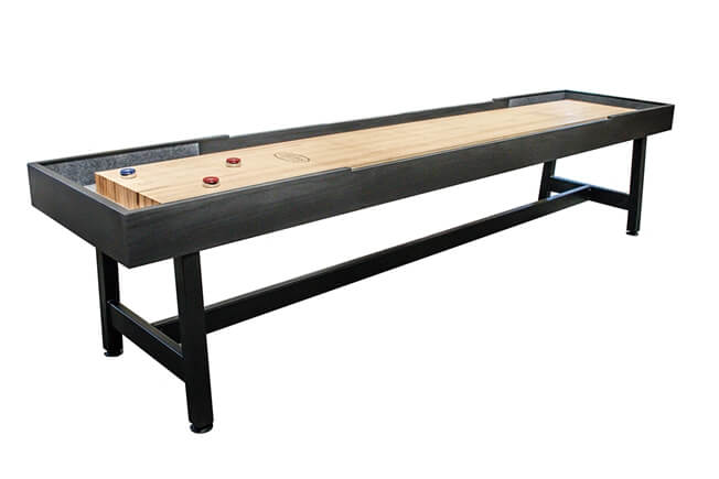 12 foot Contempo Tulipwood shuffleboard table