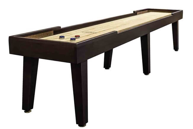 14 foot Ludington Tulipwood shuffleboard table