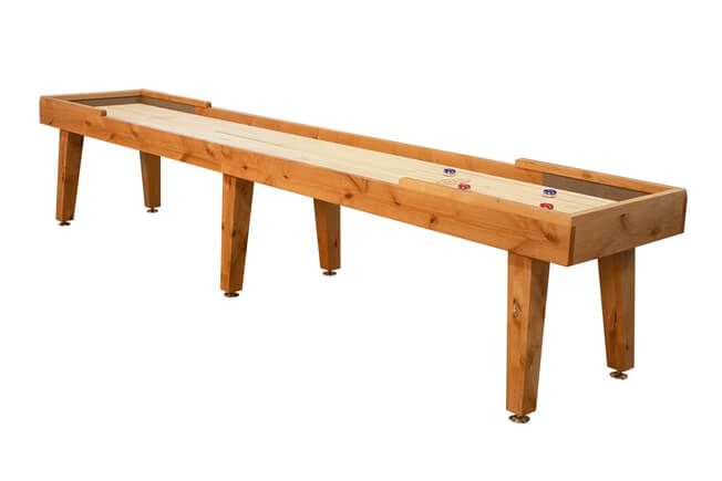 12 foot Ludington Alder shuffleboard table