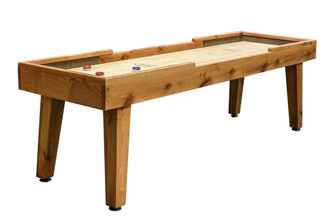 9 foot Ludington Alder shuffleboard table