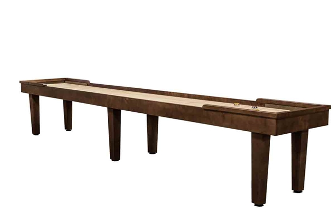 18 foot Hamilton Maple shuffleboard table