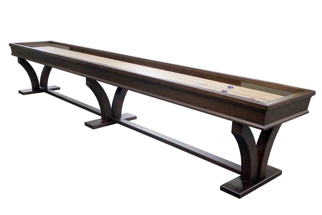 16 Foot Veneto Tulipwood Shuffleboard Table Heirloom Finish
