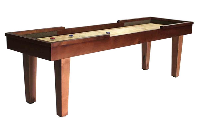 9 foot Hamilton Maple shuffleboard table